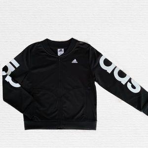 adi Black adidas Girls Big Kids Tricot Bomber Jacket